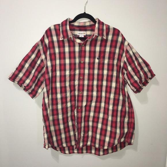 Carhartt Other - 2X Carhartt Flannel Short Sleeve Shirt